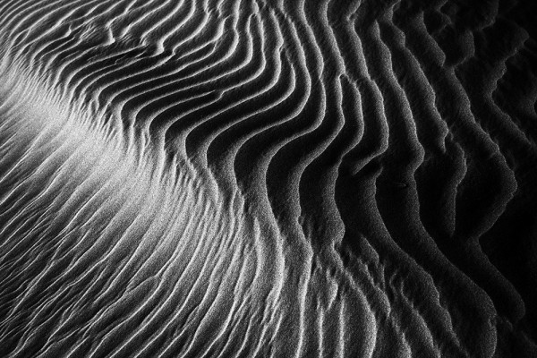 Death Valley dunes look spectacular just before sunset.