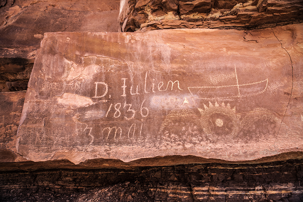 One of Denis Julien's historic inscriptions