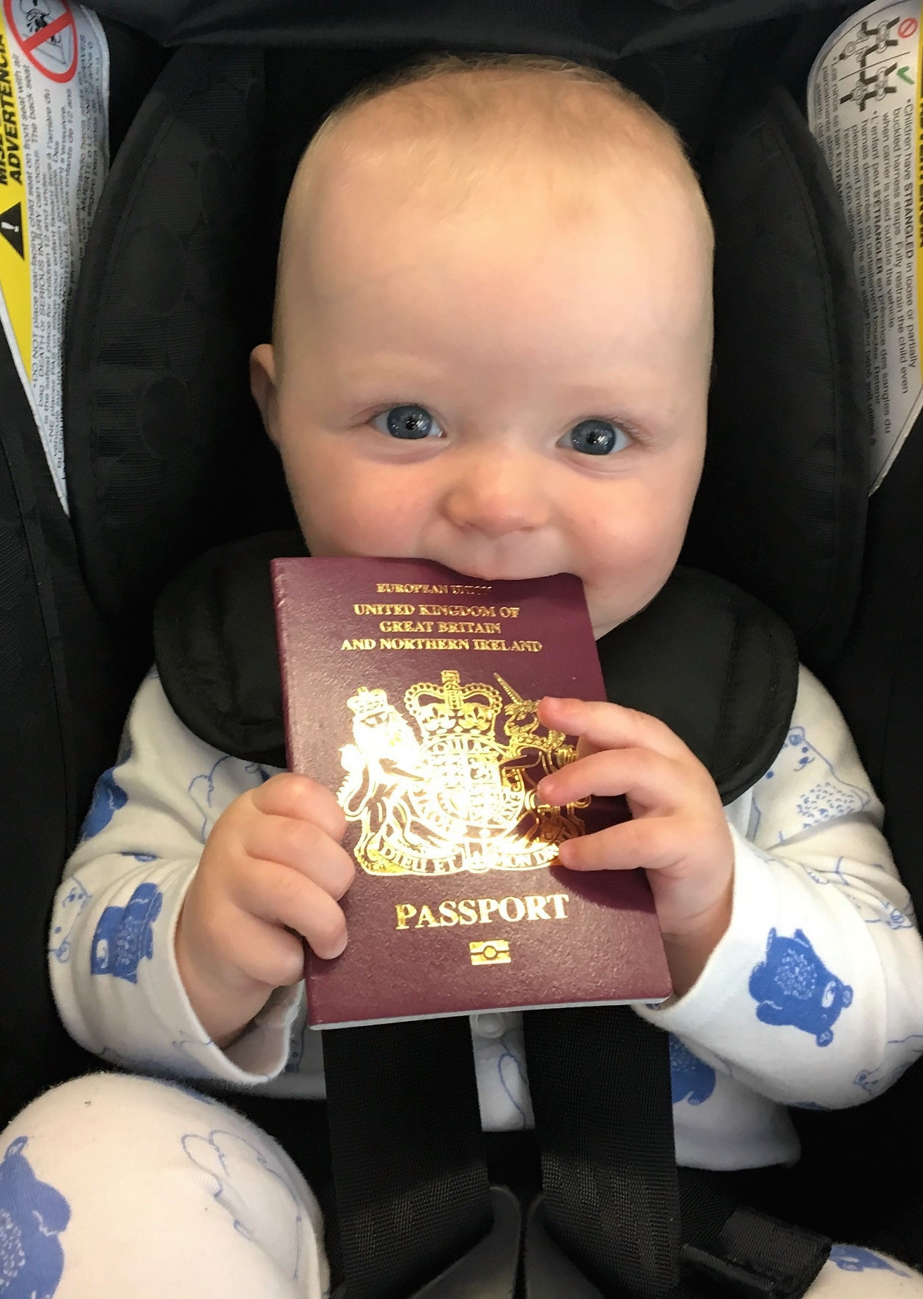 British passport for an american baby 5 easy steps life in the bay baby holding his british passport falaconquin